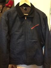 Vintage Men's Work Farm Scoville Zipper Blanket Blue Denim Jacket. Size 42