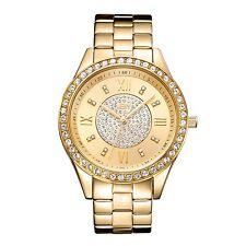 NEW JBW J6303B Women's Hudson Collection Gold Bling 16 Swarovski Diamonds Watch