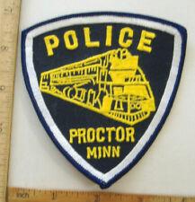 PROCTOR MINNESOTA  POLICE  FABRIC PATCH