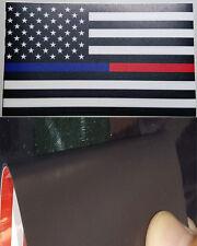 MAGNET Thin Blue Red Line FireFighter Police respect flag Vinyl Matte  USA  USPS