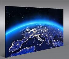 Bild auf Leinwand Europa vom Weltall 1p XXL Poster Leinwandbild Wandbild