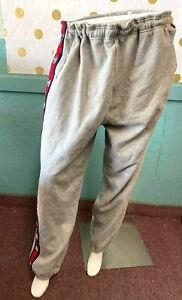 Victoria's Secret PINK Campus Pant Sweatpants Gray Logo Side Stripe NWT
