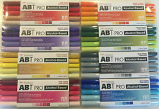 Tombow ABT Pro alcohol based markers 5pks. YOU CHOOSE NEW