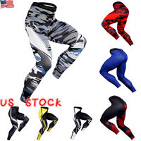 Mens Compression Tight Base Layer Pants Long Leggings Gym Joggers Sport Trousers