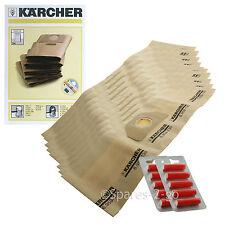10 X Bolsas Para Aspiradora Karcher K2201F K2901F K3000 K2150 SE4001 SE4002 Hoover Bolsa + F