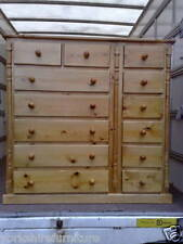 NEW LARGE HAND MADE WALES PINE 13 DRAWER CHEST NO FLAT PACKS
