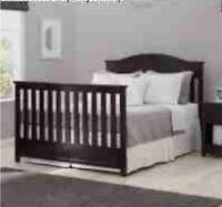 Delta Children Bennington Elite Full Size Bed Conversion Kit-Dark Espresso-RARE