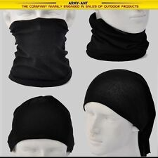 Black SWAT AA158 Tubular Headscarves Bandana Scarf Face Mask