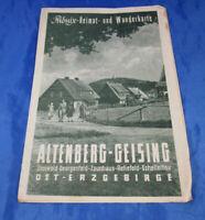 Wanderkarte Altenberg-Geising Osterzgebirge Zinnwald-Georgenfeld bis Schellerhau