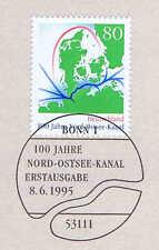 BRD 1995: Nord-Ostsee-Kanal Nr. 1802 mit Bonner Ersttagssonderstempel! 1A! 1710