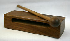 """Medium Wood Block with Striker, 6""""x2""""x1 3/4"""", Rosewood, Double Slotted  New"""