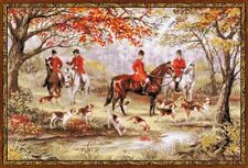 "Riding Out Following The Hounds Cross Stitch Kit  23.5"" x 15.75"""