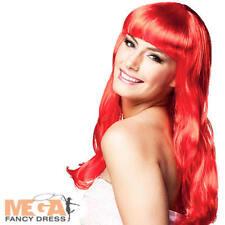 Rouge Chic Perruque Femmes Déguisement Sirène Ariel Adulte Conte De Fée Costume Acc