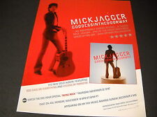 MICK JAGGER One Of The Great Male Rock Voices Of This Age 2001 PROMO POSTER AD