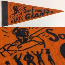 1950's San Francisco Giants 3.75x8.75 Mini Pennant MLB Baseball Sf Orange