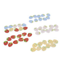 10pcs Fruit Strawberry decorative wooden buttons sewing seam  wood button 3C