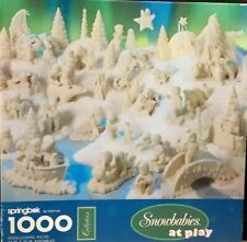 Snowbabies At Play Springbok by Hallmark Jigsaw Puzzle Collector's Series