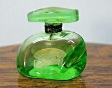Rare Vintage Ebbrezza Marina Bertelli Perfume Green Glass Bottle Italy Murano?