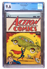 ACTION #1 REPRINT (1992) - CGC GRADED 9.6! - AWESOME CONDITION!!