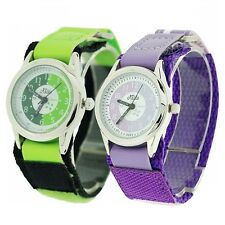 2 X Relda Time Teacher Lilac /green Easy Fasten Boys Kids Watch Gift Set Award