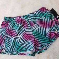 Adidas Youth Shorts Track Athletic Sport Tropical Sz Large 12-14 Green A1
