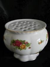 HTF LARGE 1962 ROYAL ALBERT Old Country Roses Flower Arranger Flower Frog Vase