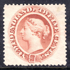 NEWFOUNDLAND #28 12c PALE RED BROWN, 1870, VF, OG-LH