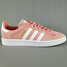 Adidas Campus Suede Shoes SZ 9.5 Womens Fashion Sneakers Pink Rose Cloud  White e48e8c1ea