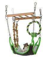 Trixie Small Pet Suspension Bridge Toy Chew Soft Hammock Wooden Hamster Gerbil