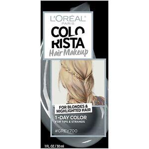 L'Oréal Paris Colorista Hair Makeup Temporary 1-Day Hair Color Kit #GREY700