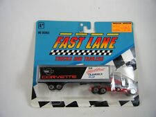 Vintage 1991 Geoffrey Fast Lane Trucks & Trailers Semi Corvette on side Ho Scale