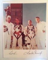 Astronauts Charles Conrad and Gordon Cooper Signed NASA Gemini 5 Photograph