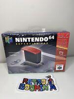 NEW Nintendo 64 Expansion Pak Genuine OEM N64 Ram Cartridge Pack  NUS-007 NIB