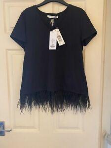 BRAND NEW OUI black T-shirt - Size 12