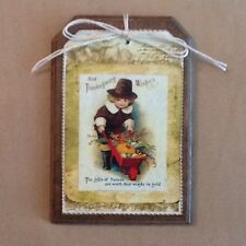 5 Handcrafted THANKSGIVING Ornaments/Hang Tags/FALL BowlFillers/GiftTags Set'4