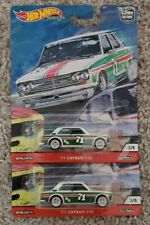 Lot of 2 Hot Wheels Premium Car Culture '71 Datsun 510 Real Riders