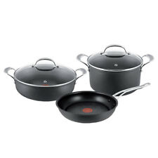 Tefal 3pc Jamie Oliver Hard Anodised Induction Cookware Set Frypan/Stewpot/Roast