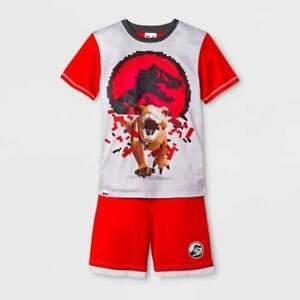 Lego Jurassic World T-Rex Dinosaur Red, Gray Pajama Shorts Set