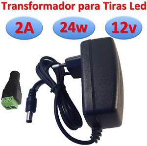 Transformateur 12 V CC 2 A 24 W Alimentation pour bandes LED Alimentation 220 V