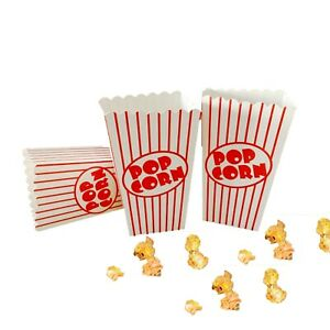 Hollywood Popcorn Boxes Movie Party Birthday Cinema Treat Paper Bags Sealed Pack