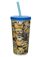 Despicable Me Minions Minion Tumbler with Straw 16oz BPA-Free Plastic Safe NEW