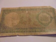 south vietnam paper money circulated uncertified 2 twenty