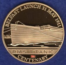 Cook Islands 2012 Gold Plated Dollar, Titanic, Belfast Launch (Ref. t1992)