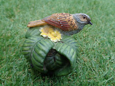 The Country Bird Collection -The Dunnock (Hedge sparrow) Ceramic figure ornament