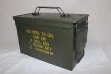 US Munitionskiste Munikiste Box Transportkiste Cal.50mm M2A1 Metall Oliv Neu Mil
