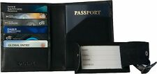 Genuine Leather RFID Blocking Passport Wallet Holder