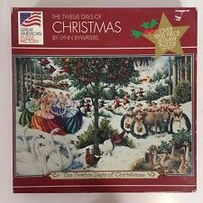 Great American Puzzle Factory 1000pc THE TWELVE DAYS OF CHRISTMAS Springbok