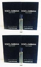 D&G Dolce & Gabbana Pour Homme Mens EDT .05 oz Sample Vial x 4
