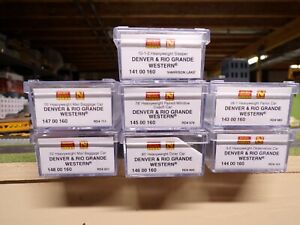 N Scale Micro-Trains Denver & Rio Grande Western Set of 7 Heavy Weight Cars