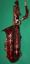 Saxophone Alto Eb + Fa # Rouge Corps & Gold keys NEW ORLEANS ® + DVD + 10 reeds